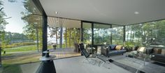 EVO, puurakentamisen uusi tulevaisuus.   Wooden architecture   Modern dream home   www.honkatalot.fi Log Homes, Cottage, Cabin, Living Room, Finland, Outdoor Decor, Modern, Summer, Winter