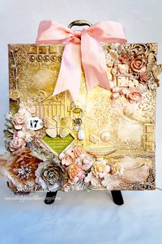 "Mixed Media Altered Canvas ""Secret Garden"" - Scrapbook.com"