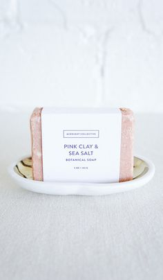 Midnight Collective Pink Clay and Sea Salt Soap