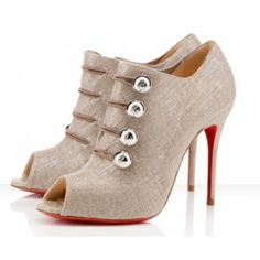 Christian Louboutin Ankle Boots Loubout Silver