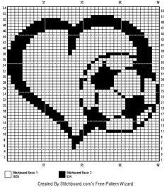 Crochet Diagram, Filet Crochet, Knit Crochet, Cross Stitch Heart, Counted Cross Stitch Patterns, Beading Patterns, Crochet Patterns, Broderie Bargello, Crochet Home
