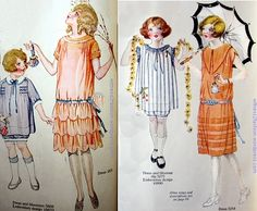 Girl's dress 1925; Girls' dress patterns for June, 1924. Description from witness2fashion.wordpress.com. I searched for this on bing.com/images