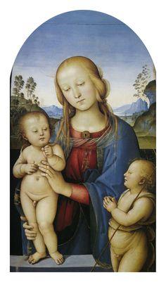 Madonna with Children and St.John - Pietro Perugino