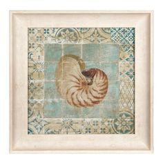 Shell Tiles II Framed Art Print | Kirklands