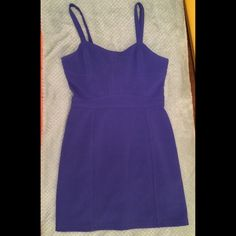 Sparkle and Fade Blue Dress Blue mini dress with back cutouts and adjustable straps. Really nice lined material. Super comfortable Sparkle & Fade Dresses Mini