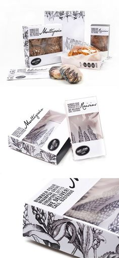 lovely 1 color bread packaging: