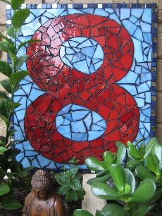 Mandala Art: /D.I.Y Projects /Step By Step Mosaic House Number