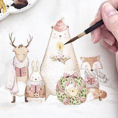 It's beggining to look a lot like Christmas! | the LAST session of our Xmas workshop in Surabaya is almost FULL ! Register at : www.maubelajarapa.com/surabaya | Can't wait to see you. #artlovers #atelier #womenartists#drawing #draw#instartpics#art_we_inspire#arts_help#worldofartists#handpainted#watercolor#watercolour#illustration#watercolorillustration#cutedrawing#whiteaddict#worldofartists#whitecultural#bigbearandbird#cute#happy#instagram#artoftheday#diy#nursery#christmas#snow#winter