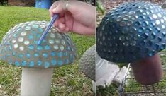 This video shows you how to make concrete garden mushrooms. If you want to learn how to make your own garden ornaments, follow along as she walks you through the steps. She begins by showing all of the materials you will need for this project and items to make a stepping stones project. Each of …