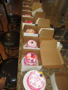 Cake decorating party for 13th bday.