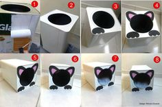 Reciclagem - latão tinta = casinha de gato