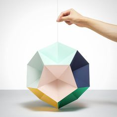 Cool dodecahedron mobile.