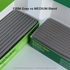 Sculpey Firm grey vs Sculpey MEDIUM Blend