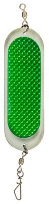 "Luhr Jensen Jensen Dodger Spoon - 3-15/16"" - Chrome/Green Prism"