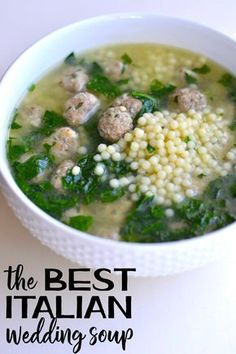 This Italian Wedding Soup recipe is delicious and nutritious. Everyone loves it! via @goodinthesimple