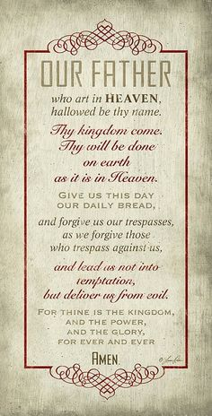 """The Lords Prayer Inspirational 16""""x 8"""" Wood Plaque"""