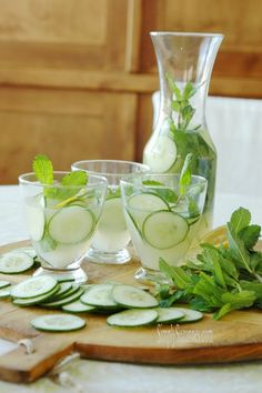 Simply Suzanne's AT HOME: cucumber mint lemonade . . . a Spring & Summer mocktail