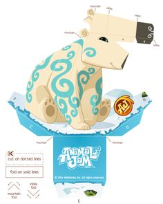 Polar Bear Hollow Face Foldable | Create a cool optical illusion with this free download from Animal Jam! #playwild