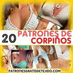 20 patrones crochet de brasiers