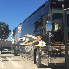 Prevost at Camp Gulf Prevost Bus, Bus Conversion, Motorhome, Tours, Camping, Vehicles, Luxury, Campsite, Rv