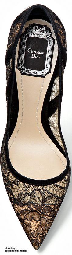 Dior Black Lace Pump