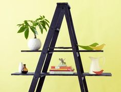 IDEAS & INSPIRATIONS: Repurposed Organizers: Ladders - Ladder Decorations Ideas