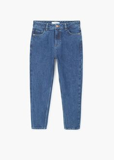 Relaxed cropped mom jeans   MANGO