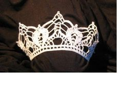 crochet bridal crown, virkad brudkrona 3 « my crochet and everyday weblog, in Swedish and English