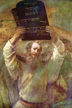 Moses Smashing the Tablets of the Law   Artist : Rembrandt (1606–1669)   Location : Gemäldegalerie, Berlin.