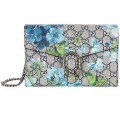 Gucci Dionysus Bloom Mini Shoulder Bag (18,950 MXN) ❤ liked on Polyvore featuring bags, handbags, shoulder bags, shoulder handbags, structured handbags, mini purse, gucci handbags and blue purse