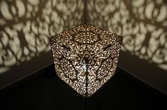 laser cut wood lamp shade by melbourne laser cutter