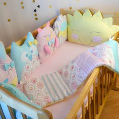 Crib bumpers - Baby bed bumper - Crib bedding - Baby bedding set - Crib bedding set - Bed bumpers for toddlers Baby Boy Room Decor, Baby Bedroom, Baby Boy Rooms, Kids Bedroom, Girl Cribs, Baby Cribs, Cot Bumper Sets, Bed Bumpers, Cloud Pillow