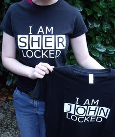 THEY HAVE JOHNLOCK SHIRTS!!   This is so awesome. I just watched that episode!