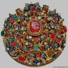 Laubigheftel aus Kronstadt von 1670-1680, 12,5 cm Durchmesser