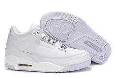 buy popular 57475 50dbd Air Jordan 3 All White  109.99 Air Jordan Shoes, Kobe Shoes, Cheap Jordan  Shoes