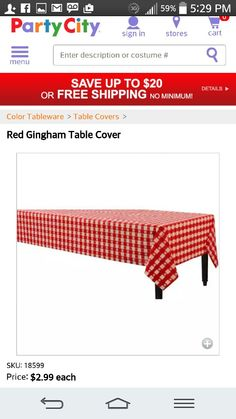 Red check cover
