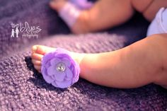 You Choose Color  Baby Barefoot Sandals by BellaBumbleBee on Etsy, $9.95