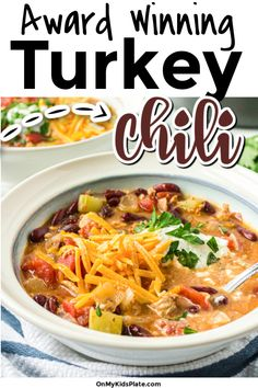 The Best Ground Turkey Chili You'll Ever Eat ~ On My Kids Plate