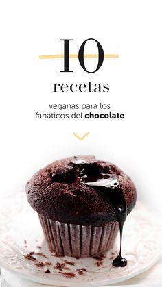 10 recetas veganas para los fanáticos del chocolate Vegan Sweets, Vegan Desserts, Delicious Desserts, Vegan Recipes, Dessert Recipes, Baking Recipes, Sweet Desserts, Sweet Recipes, Tortillas Veganas