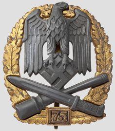 Sturmabzeichen 4. Stufe mit Einsatzzahl 75 (General Assault Badge)