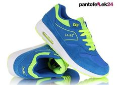 Niebiesko - zielone buty sportowe / Blue and green athletic shoes / 49,90 PLN #summer #sport #spring #shoes #athletic