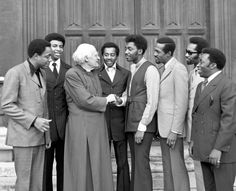 In This Photo The Temptations Are Reviewing Their Latest