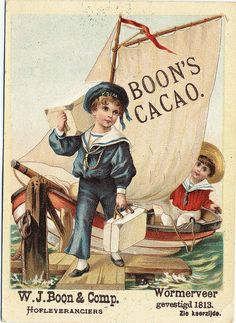Boon's Cacao vintage trade card