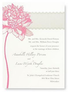 Like the simplicity of these invitations, but would change the pink color.