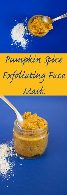 Pumpkin Spice Exfoliating Face Mask (vegan, gluten free) - This mask is a perfect way to use up that last tablespoon (or more) of pumpkin puree. Not to mention your face will thank you! - Make Face Mask Acne Face Mask, Diy Face Mask, Face Face, Diy Mask, Face Diy, Dry Face, Smooth Face, Pumpkin Puree, Pumpkin Spice