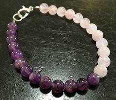 Healing Crystal Bracelet (Amethyst and Rose Quartz)