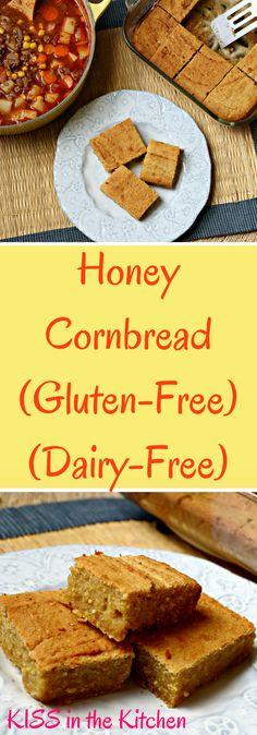 Gluten-free, dairy-free sweet cornbread