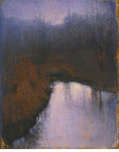 John Felsing- Ghost Stream-Oil on linen mounted on board-60 1/8 x 48 1/4 in      At the Gerald Peters Gallery, Santa Fe.