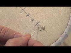 Les petites leçons de Marie Suarez - Le point diamant en broderie - Edisaxe - YouTube