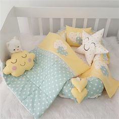 Modastra Sarı-Su yeşili Yıldız Desenli Babynest Seti Baby Bedroom, Baby Room Decor, Baby Kids, Baby Boy, Baby Applique, Baby Sewing Projects, Baby Pillows, Pretty Baby, Baby Sleep